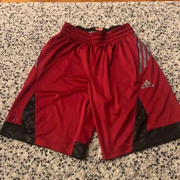 Red Adidas basketball shorts Size M